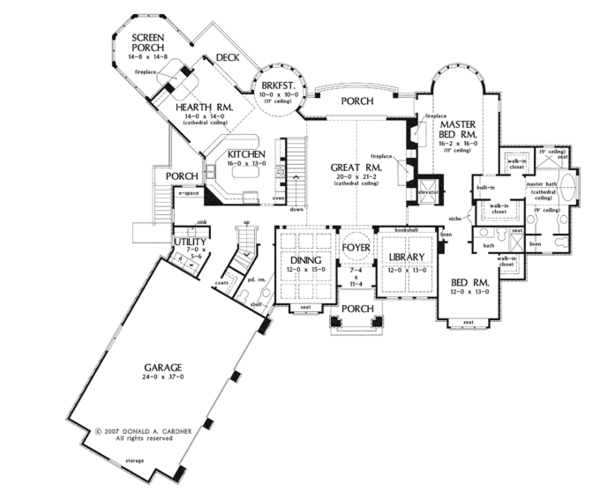 European Floor Plan - Main Floor Plan Plan #929-912