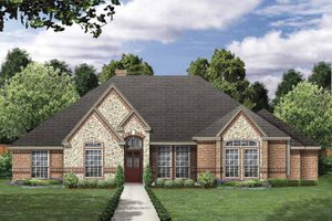 Traditional Exterior - Front Elevation Plan #84-771