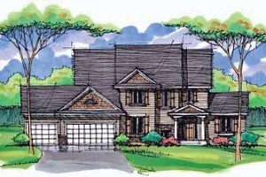 House Blueprint - Country Exterior - Front Elevation Plan #51-1004