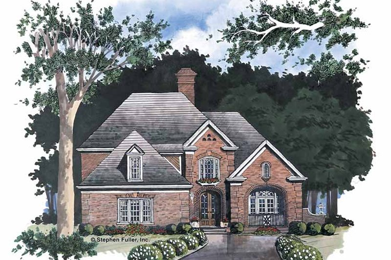 House Plan Design - European Exterior - Front Elevation Plan #429-58