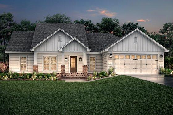 Craftsman Exterior - Front Elevation Plan #430-78