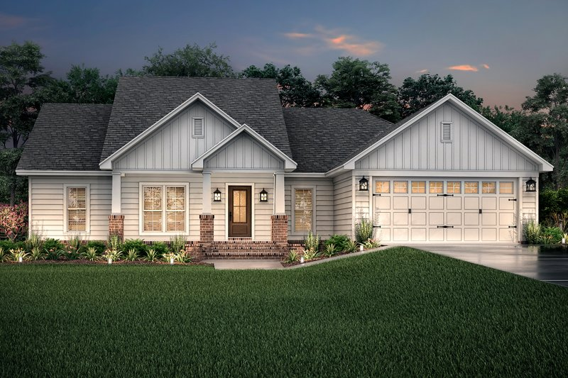 Craftsman Exterior - Front Elevation Plan #430-78