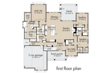 Farmhouse Floor Plan - Main Floor Plan Plan #120-259