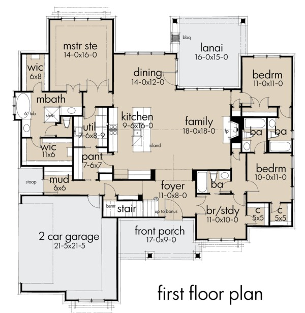 Architectural House Design - Farmhouse Floor Plan - Main Floor Plan #120-259