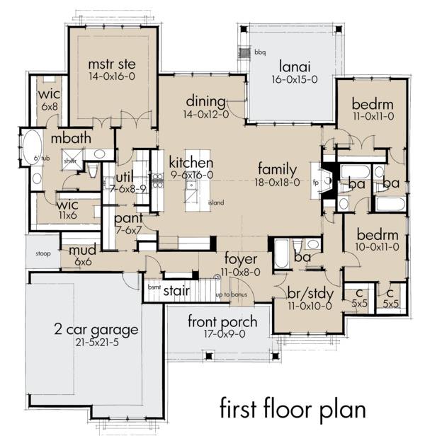 Dream House Plan - Farmhouse Floor Plan - Main Floor Plan #120-259