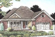 Home Plan - Traditional Exterior - Front Elevation Plan #20-369