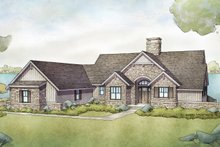 Cottage Exterior - Front Elevation Plan #928-336