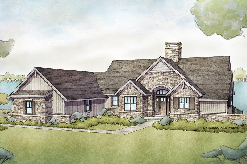 Cottage Style House Plan - 5 Beds 4 Baths 2464 Sq/Ft Plan #928-336 Exterior - Front Elevation