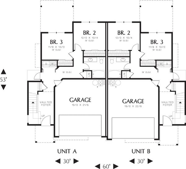Craftsman Floor Plan - Main Floor Plan Plan #48-627