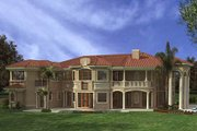 Mediterranean Style House Plan - 7 Beds 8.5 Baths 7502 Sq/Ft Plan #420-197 Exterior - Rear Elevation