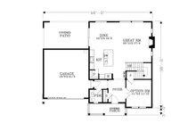 Craftsman Floor Plan - Main Floor Plan Plan #53-610