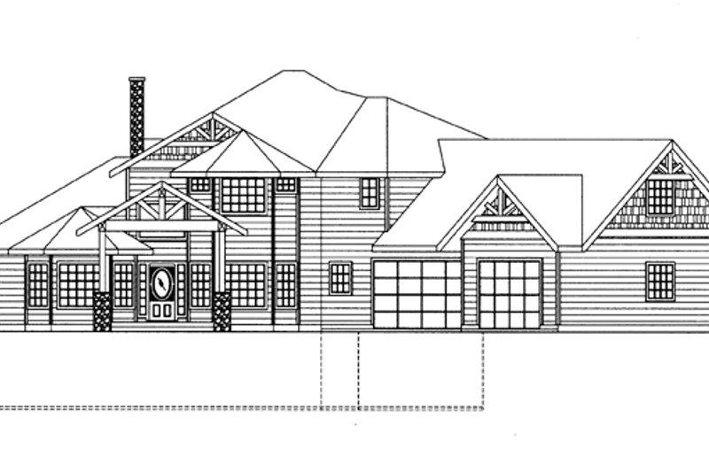 Contemporary Exterior - Front Elevation Plan #117-844 - Houseplans.com