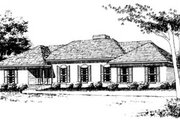 Traditional Style House Plan - 3 Beds 2 Baths 2184 Sq/Ft Plan #10-149 Exterior - Front Elevation