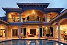 House Plan Design - Mediterranean Exterior - Rear Elevation Plan #1017-1