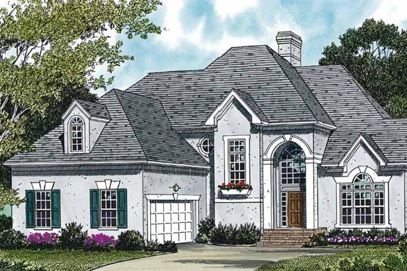 Dream House Plan - Mediterranean Exterior - Front Elevation Plan #453-432