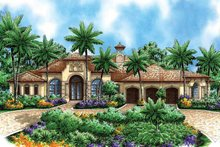 Mediterranean Exterior - Front Elevation Plan #1017-29