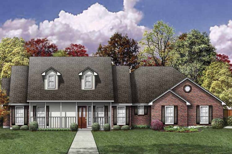 Traditional Exterior - Front Elevation Plan #84-762 - Houseplans.com