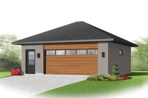 House Plan Design - Contemporary Exterior - Front Elevation Plan #23-2564