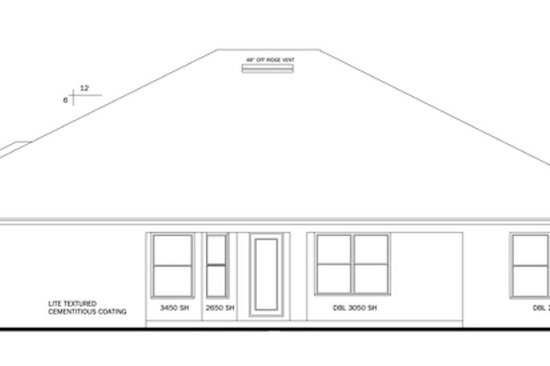 Traditional Exterior - Rear Elevation Plan #1058-48 - Houseplans.com