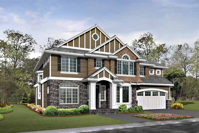 Craftsman Exterior - Front Elevation Plan #132-423