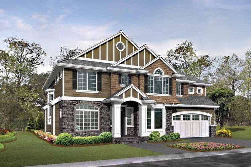 Craftsman Exterior - Front Elevation Plan #132-423