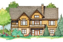 Craftsman Exterior - Rear Elevation Plan #929-936