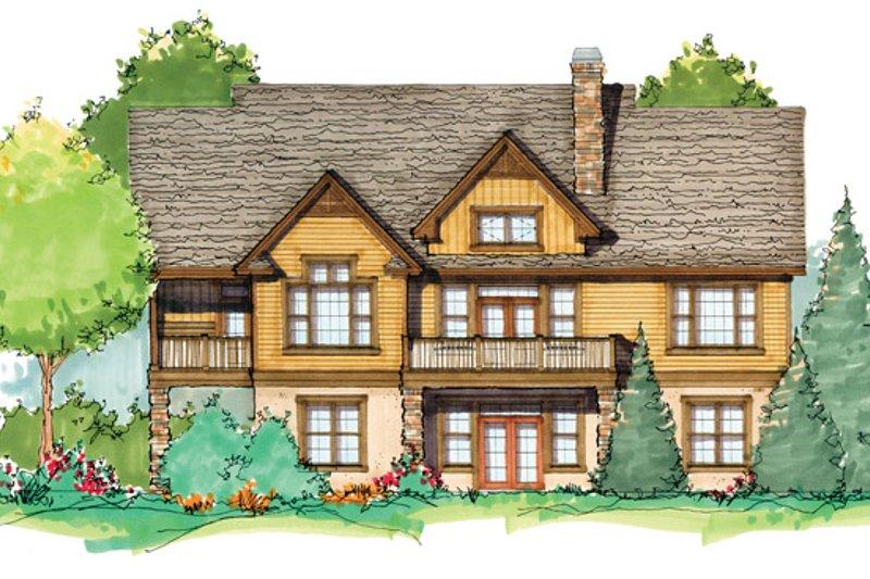 Craftsman Exterior - Rear Elevation Plan #929-936 - Houseplans.com