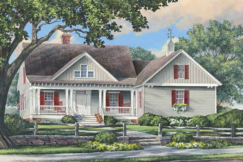 Architectural House Design - Traditional Exterior - Front Elevation Plan #137-340