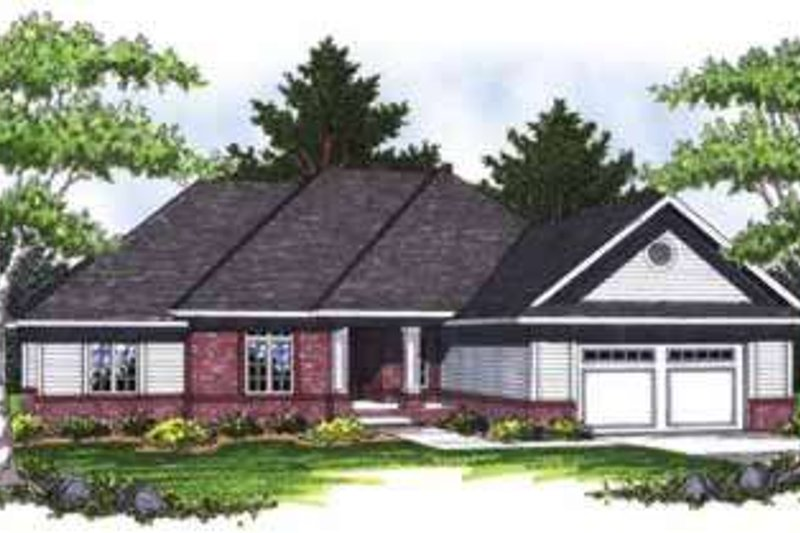 Home Plan - Traditional Exterior - Front Elevation Plan #70-833