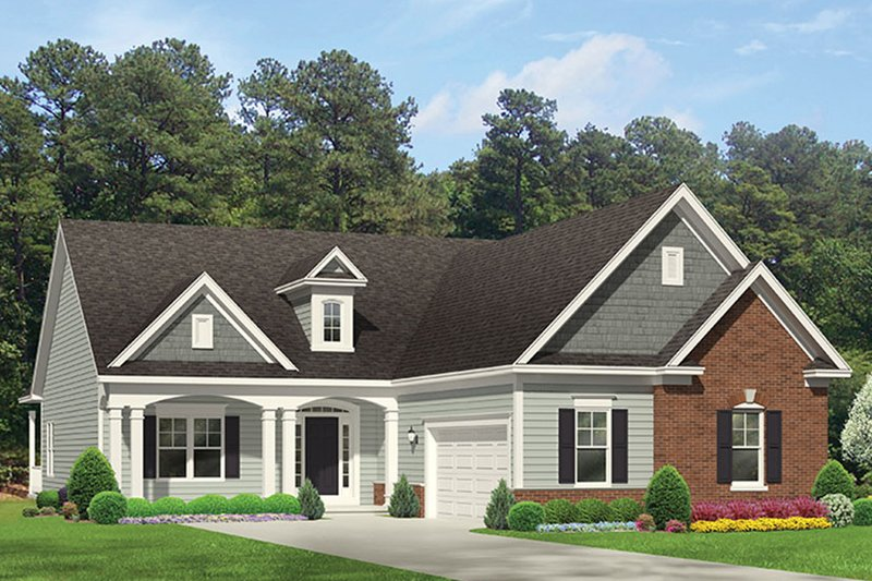 Ranch Exterior - Front Elevation Plan #1010-144