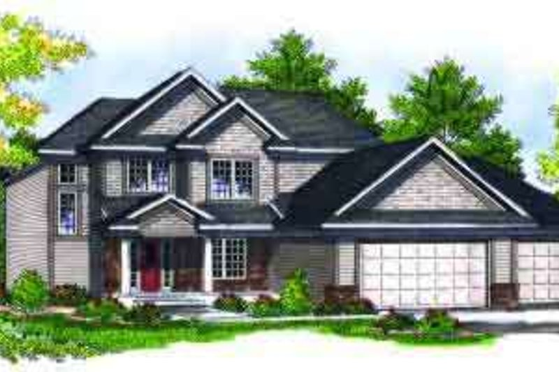 Traditional Style House Plan - 4 Beds 2.5 Baths 2100 Sq/Ft Plan #70-685 Exterior - Front Elevation