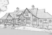 Country Style House Plan - 4 Beds 4.5 Baths 5504 Sq/Ft Plan #928-264 Exterior - Front Elevation