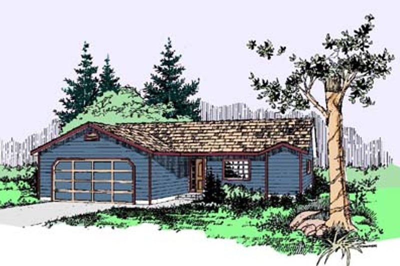 Traditional Exterior - Front Elevation Plan #60-523 - Houseplans.com
