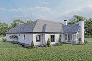 Craftsman Style House Plan - 3 Beds 2 Baths 2096 Sq/Ft Plan #437-101 Exterior - Rear Elevation