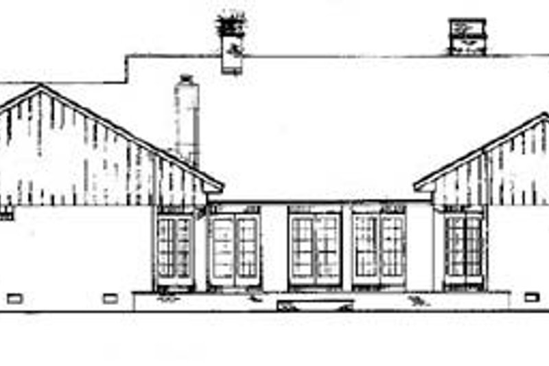 Traditional Exterior - Rear Elevation Plan #45-163 - Houseplans.com