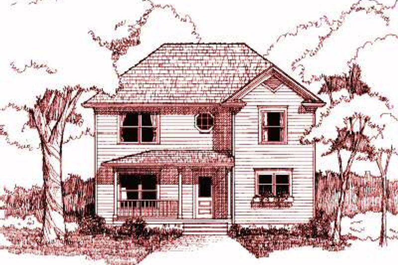 Country Exterior - Front Elevation Plan #79-191
