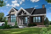 Craftsman Style House Plan - 2 Beds 1 Baths 1102 Sq/Ft Plan #23-2664 Exterior - Front Elevation