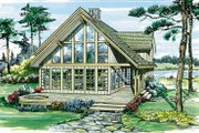 Contemporary Style House Plan - 3 Beds 2.5 Baths 1795 Sq/Ft Plan #47-367 Exterior - Front Elevation