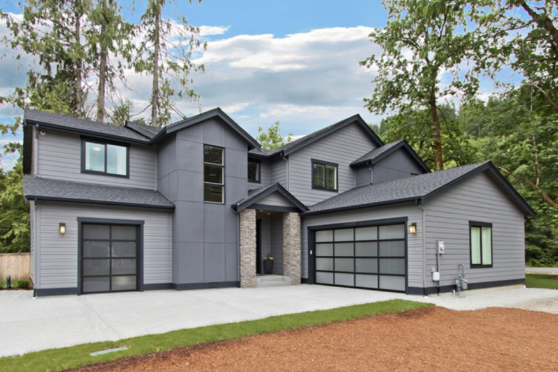 Home Plan - Contemporary Exterior - Front Elevation Plan #569-38