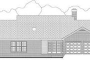 Country Style House Plan - 3 Beds 2.5 Baths 1884 Sq/Ft Plan #406-252 Exterior - Rear Elevation