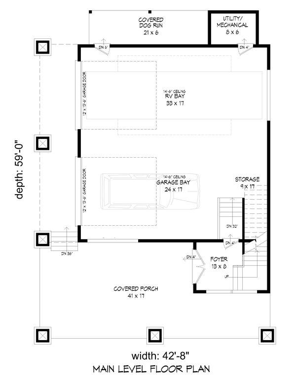 Country Floor Plan - Lower Floor Plan Plan #932-99