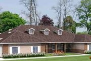 Ranch Style House Plan - 5 Beds 5.5 Baths 4949 Sq/Ft Plan #1-929 Exterior - Front Elevation
