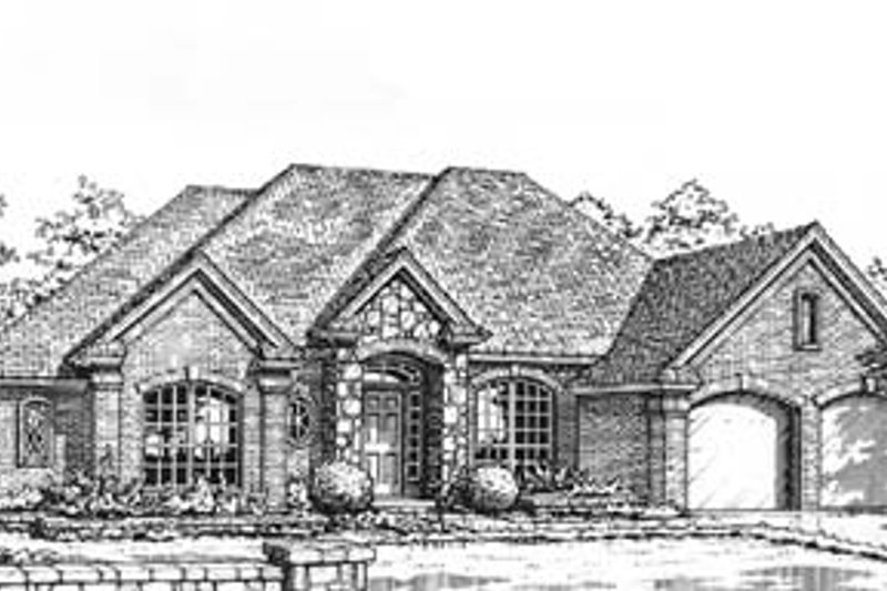 Traditional Style House Plan - 3 Beds 2 Baths 2128 Sq/Ft Plan #310-594 Exterior - Front Elevation