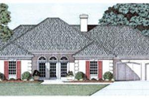 Architectural House Design - European Exterior - Front Elevation Plan #45-142