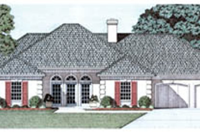 Home Plan - European Exterior - Front Elevation Plan #45-142