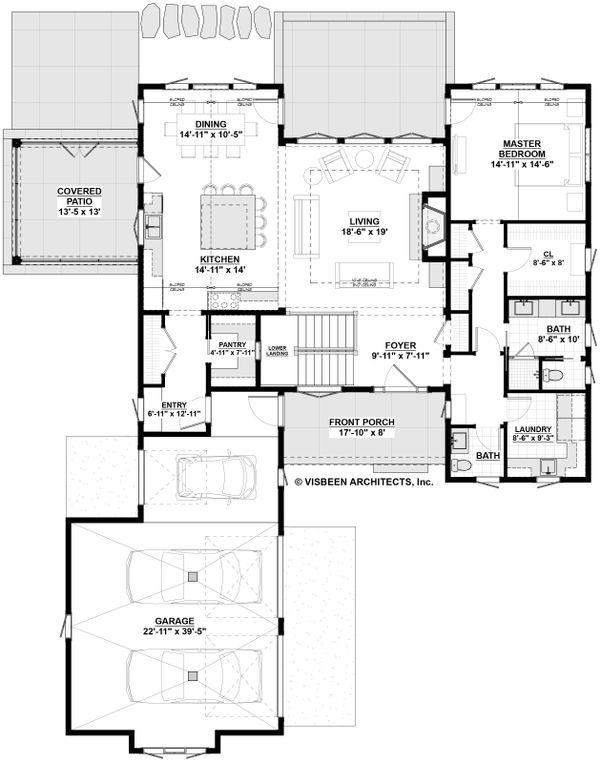 Farmhouse Floor Plan - Main Floor Plan Plan #928-301