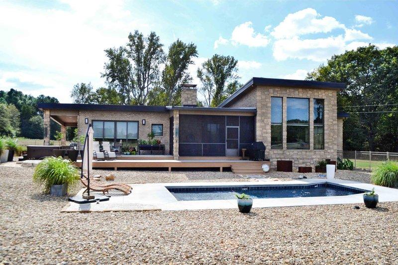 House Design - Contemporary Exterior - Rear Elevation Plan #924-1