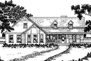 Country Exterior - Front Elevation Plan #36-186
