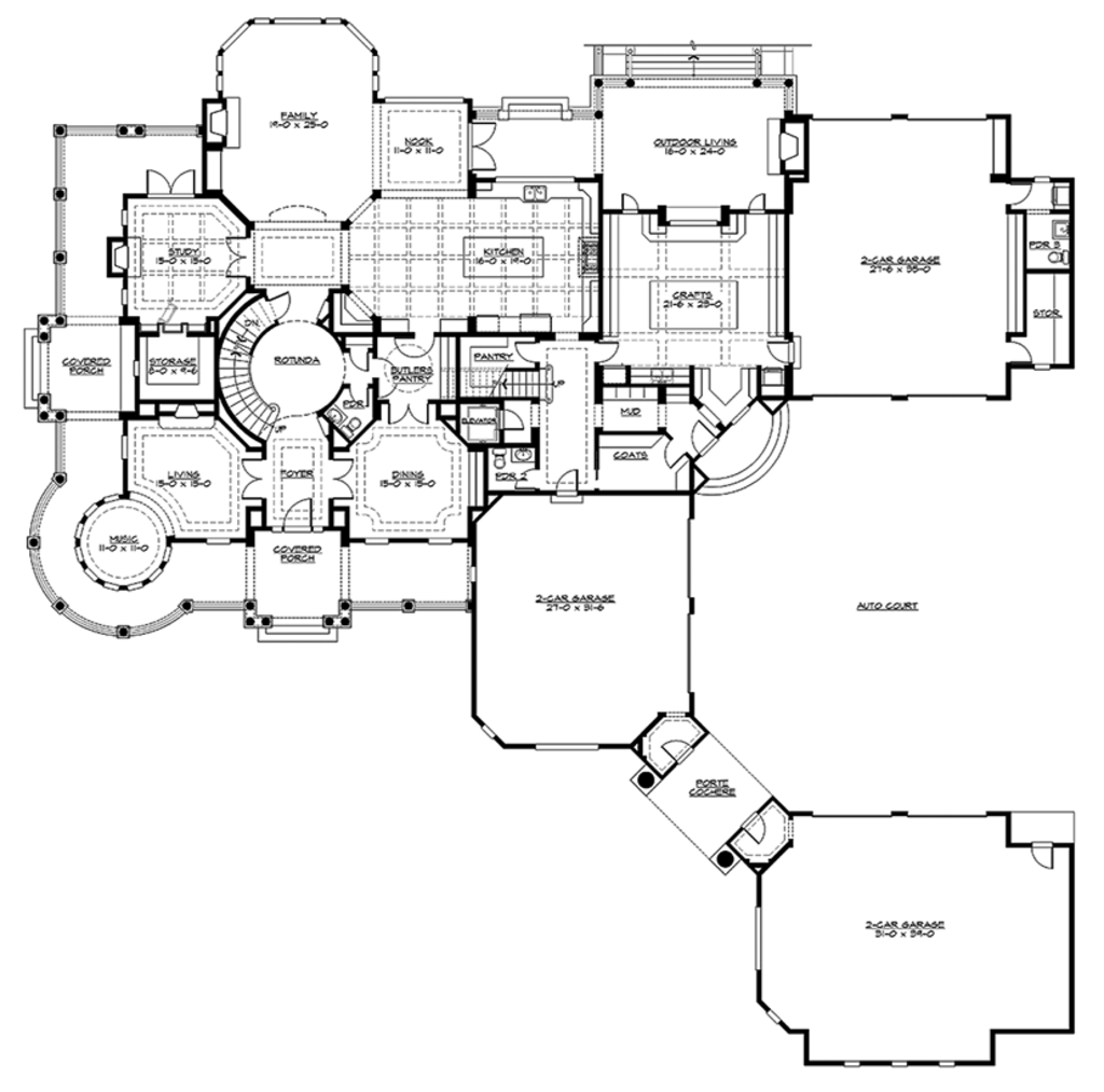 Craftsman Floor Plan   Main Floor Plan Plan #132 565