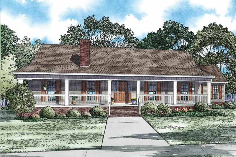 Architectural House Design - Country Exterior - Front Elevation Plan #17-3363